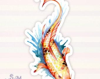 Koi Fish 2 vinyl sticker