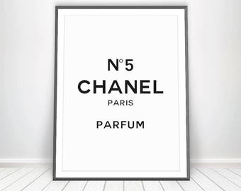 Coco Chanel Perfume Print * Chanel 5 Chanel Mademoiselle Gossip Girl Art Vanity Item Popular Items Chanel Bottle Perfume Bottle French Decor