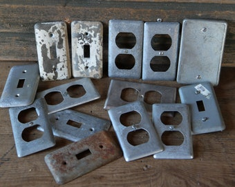 Metal outlet covers (14 piece set)