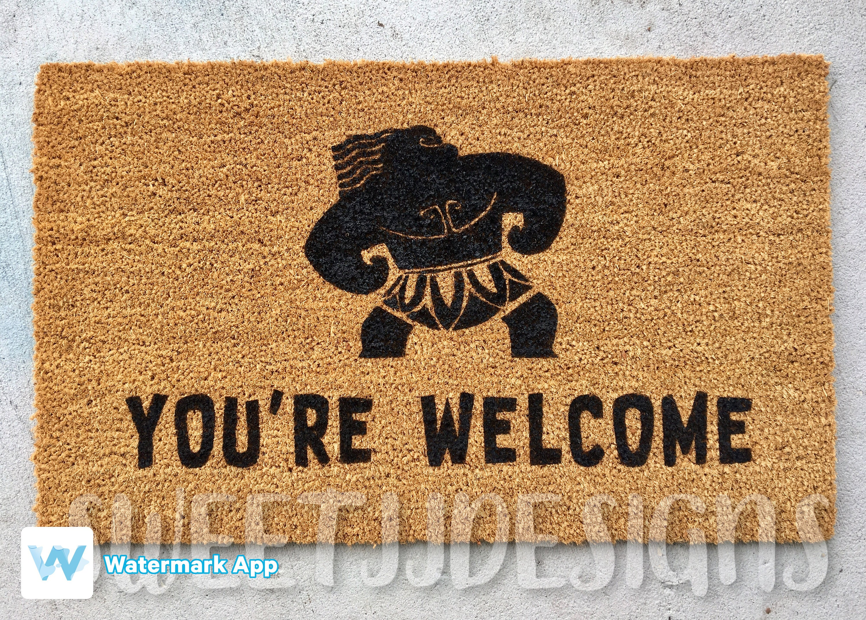 mat welcome door you moana zoom maui custom disney listing re fullxfull il aoam