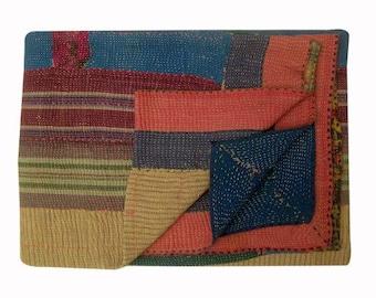 Indian Kantha quilt, kantha throw, coverlet, indian throw, blanket throw, kantha, vintage kantha quilt, vintage kantha