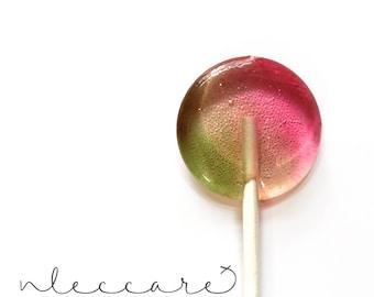 Watermelon Pistachio // Spring Wedding Favor // Summer Wedding // Favors for Guest // Leccare Lollipops  // 20 count