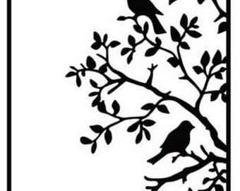 Hobby Solution Embossing Folder - Birds on Branch