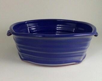 pottery casserole dish, Deep Blue Baking Dish ceramic casserole baker, pottery baking dish, ceramic baking dish pottery baker baker pottery