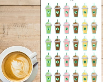 Iced Coffee Planner Stickers | Coffee Lover | Coffee Addict | Coffee Stickers (S-072)