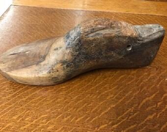 Vintage Cobblers Wooden Shoe Mold