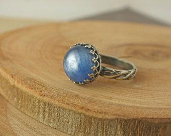 Kyanite Ring, Kyanite Stacking Ring, Kyanite Engagement Ring, Unique Engagement Ring