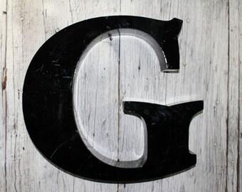 Big Black G, letter G, Capital Letter G, Vintage Sign Letter