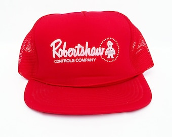 1980s Mesh Back Truckers Hat with Robertshaw Controls Co. Logo, Workman's Hat