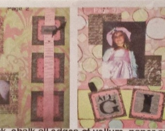 ALL GIRL 4pg Scrapbook Kit from Quick Quotes