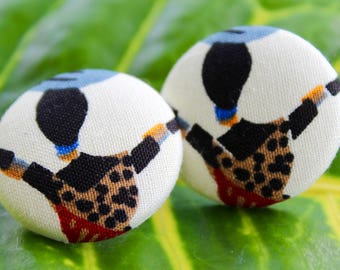 Kenyan button earrings- medium size 45