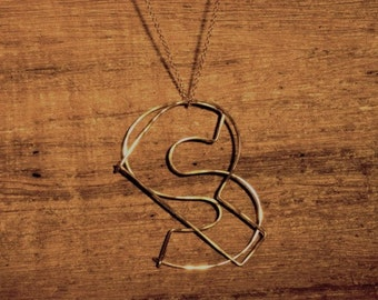 Double initial Necklace 14k goldfill