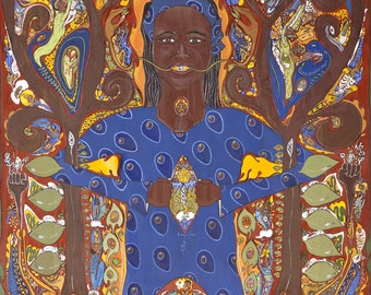 Vibrant Full Color Poster of Wangari Maathai-Treeplanter, Women's Rights and Justice Activist from Kenya.