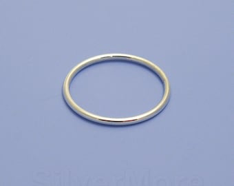 Thick Argentium Silver Smooth Stacking Ring (16 gauge)