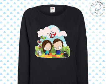 Woman Sweatshirt Caricature