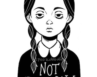 Wednesday Addams Print