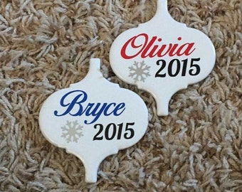 Handmade Ornaments!  Make great tags for gifts or stocking stuffers!