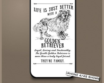 Golden Retriever dog phone case cover iPhone Samsung ~ Can be Personalised