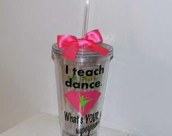 Dance Teacher  Valentine Gifts - Personalized Dance Teacher Gift- Ballet Teacher Gift -  Gifts for Dance Teachers - Dance Team Gifts
