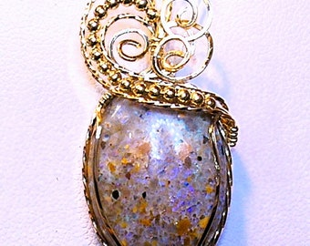 Louisiana Opal (Extremely Rare) Pendant - 19 carats - Amazing Fire!!! (lo149)