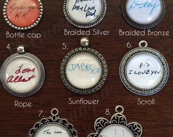 HANDWRITING JEWELRY - Handwriting necklace - Handwriting Pendant Necklace - Custom Handwriting Pendant Necklace - Signature necklace