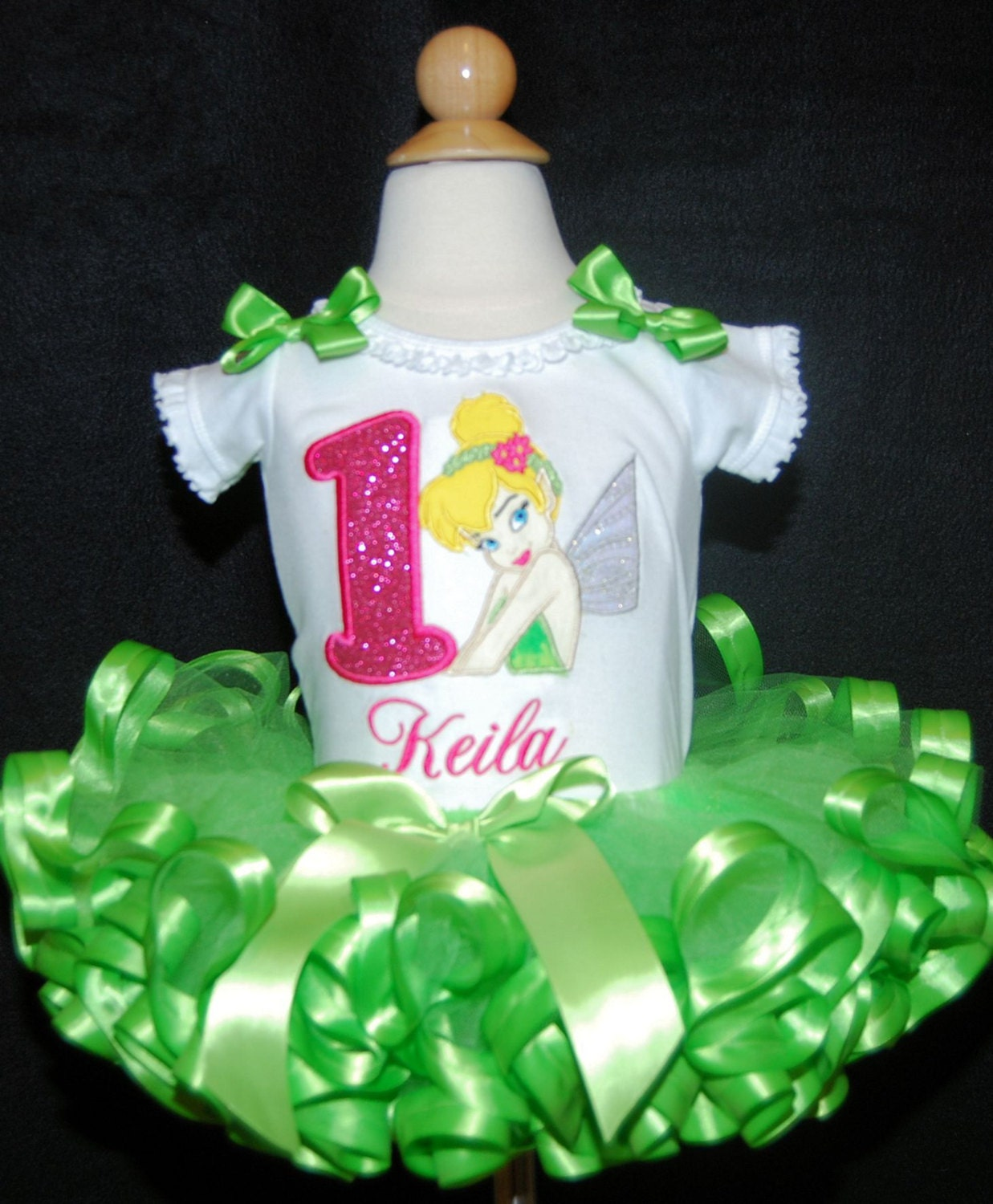 Tinkerbell Shirt First Birthday Outfit Girl Tinkerbell
