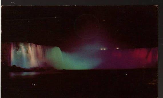 Horseshoe Falls + Niagara Falls, Ontario, Canada + 1954 + Vintage Curteich Postcard
