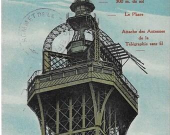 Paris, France, Le Sommet De La Tour Eiffel,  Antique 1910 Unused Postcard, Levy Et Neurdein Reunis, Appareils d'observations scientifiques