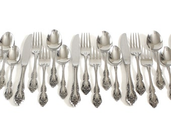 Oneida Community Stainless Brahms Silverware Flatware, Complete Set, 20-Piece Service for 4 (four 5-piece place settings)