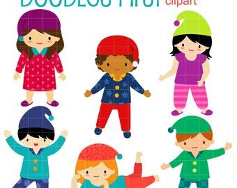pajama clipart etsy rh etsy com pajama clipart free clipart pajama day