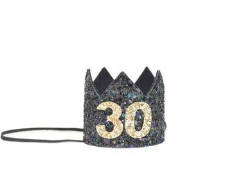 Thirtieth Birthday Crown  Flirty Thirty   Add Any Number   21st Birthday Crown   30 Birthday Crown   60 Birthday Crown