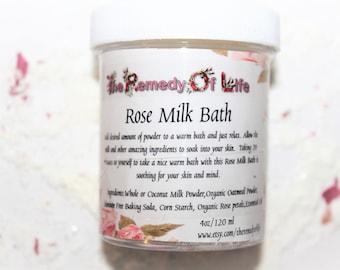 Rose Coconut, Milk Bath, Rose Bath Soak, Natural Bath, Coconut Milk Bath, Herbal Milk Bath, Milk Bath, Skin Care, Natural Skin Care