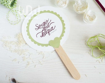 Paper WEDDING FANS_Set 10_Wedding design made in Italy_Wedding favors