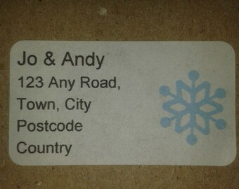 Personalised Christmas stickers, custom Christmas labels, Christmas address stickers, Christmas sender stickers, uk sticker seller, matildas