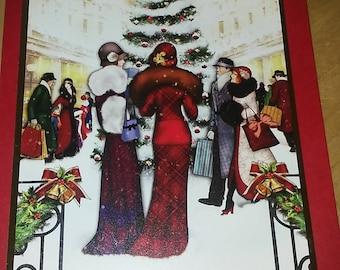 Art Deco Christmas Card pack