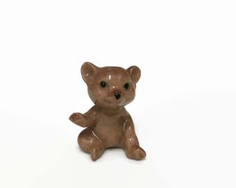 Hagen Renaker Bear - Miniature Brown Bear - Bone China Animal