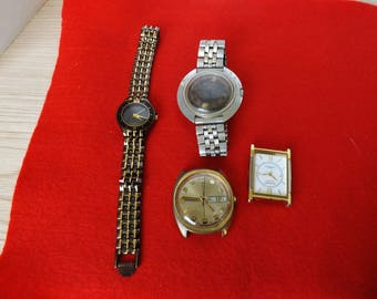 4 WATCHES FOR PARTS