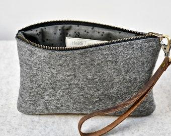Gray Felt Bag, Wool Felt Handbag, Mother's Day Gift, Felt Clutch, Wool Felt Purse, Felt Handbag, Handmade with Wool, Wool Purse