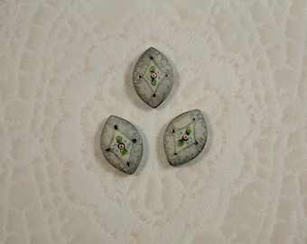 Petite Gray Button set of 3