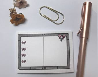 Bow Planner STICKY NOTES
