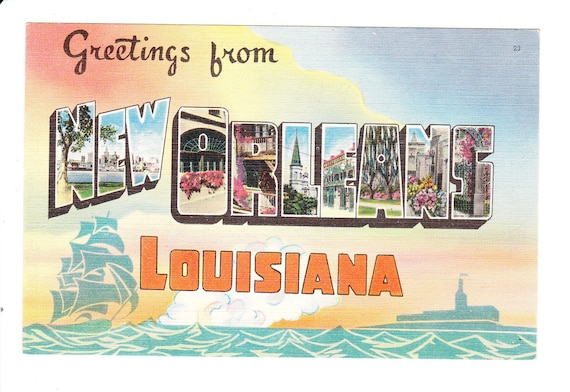 Greetings from new orleans louisiana vintage large letter postcard greetings from new orleans louisiana vintage large letter postcard unused from picturesfromthepast on etsy studio m4hsunfo