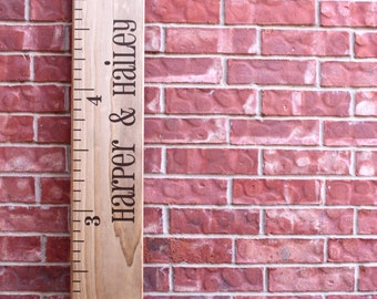 Growth Chart Ruler Add-On -- Custom Personalization Decal -- For the Side - Individual Names