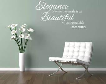 Wall Art Sticker Coco Channel Quote Home Bedroom Lounge Living Room Home Decor girls teens gift