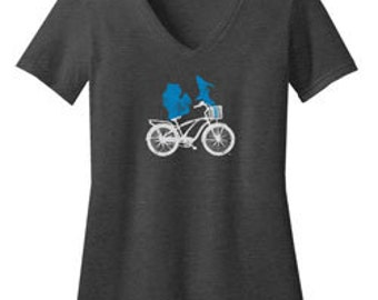 Michigan Bike Fitted T-Shirt