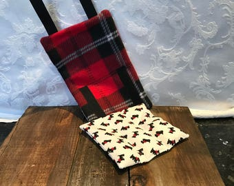 Bit Warmer (Microwavable)-Red Plaid (READY TO SHIP)