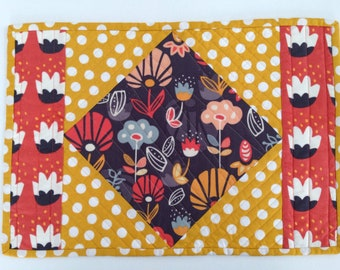 Placemats and Napkins - Quilted Placemats - Fabric Placemats and Napkins - Set of 2 Placemats and Napkins - Modern Placemats - Made to order