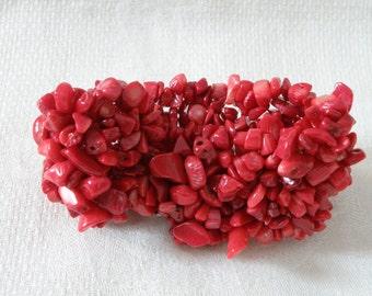 Vintage Red Coral Bracelet