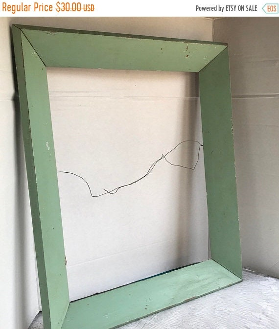 Fathers Day Sale Vintage Light Green Wooden Picture Frame / 17 X 21 ...