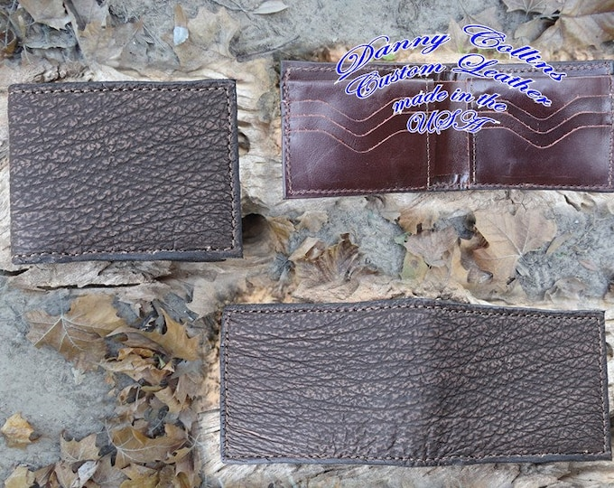 Genuin Shark Leather Wallet Leather bifold wallet, Mens Leather Bifold