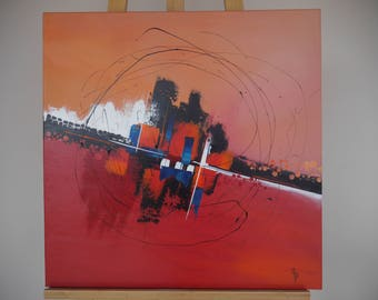 abstract painting in warm tones